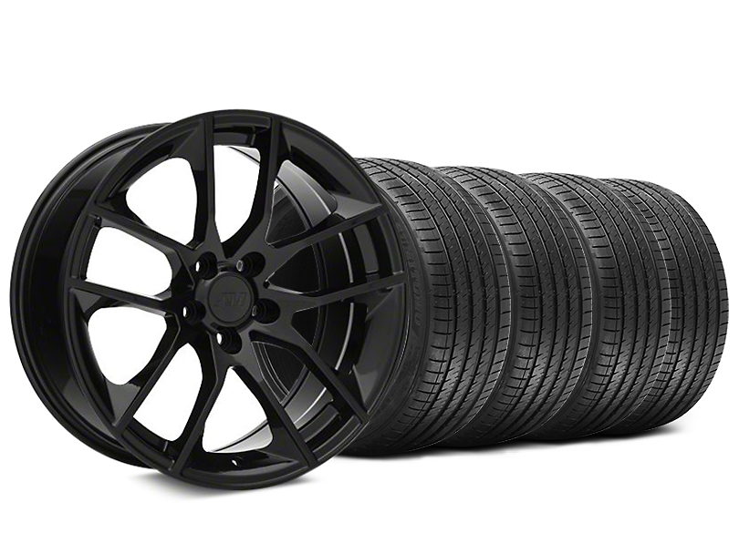 Staggered 2015 Mustang GT Style Black Wheel & Sumitomo Tire Kit - 20x8.5/10 (05-14)
