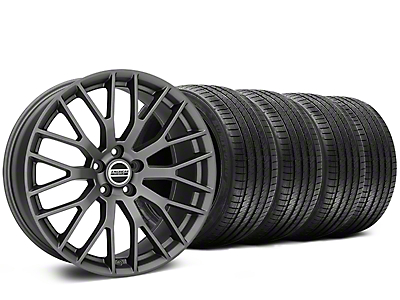 Staggered Performance Pack Style Charcoal Wheel & Sumitomo Tire Kit - 20x8.5/10 (05-14)