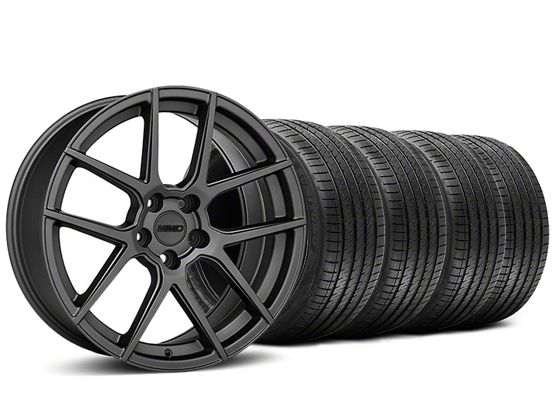 Staggered MMD Zeven Charcoal Wheel & Sumitomo Tire Kit - 20x8.5/10 (05-14 All)