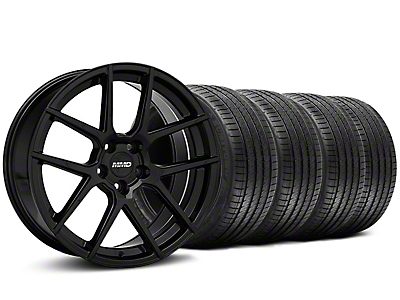 Staggered MMD Zeven Black Wheel & Sumitomo Tire Kit - 20x8.5/10 (05-14 All)