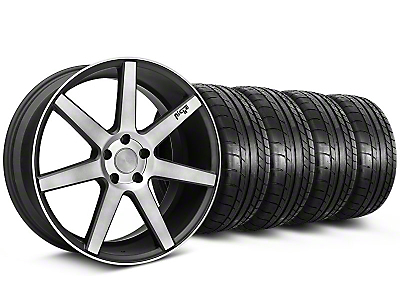 Staggered Niche Verona Black Double Dark Wheel & Mickey Thompson Tire Kit - 20x9/10 (05-14 All)