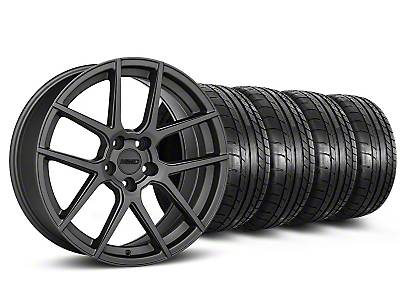 Staggered MMD Zeven Charcoal Wheel & Mickey Thompson Tire Kit - 20x8.5/10 (05-14 All)