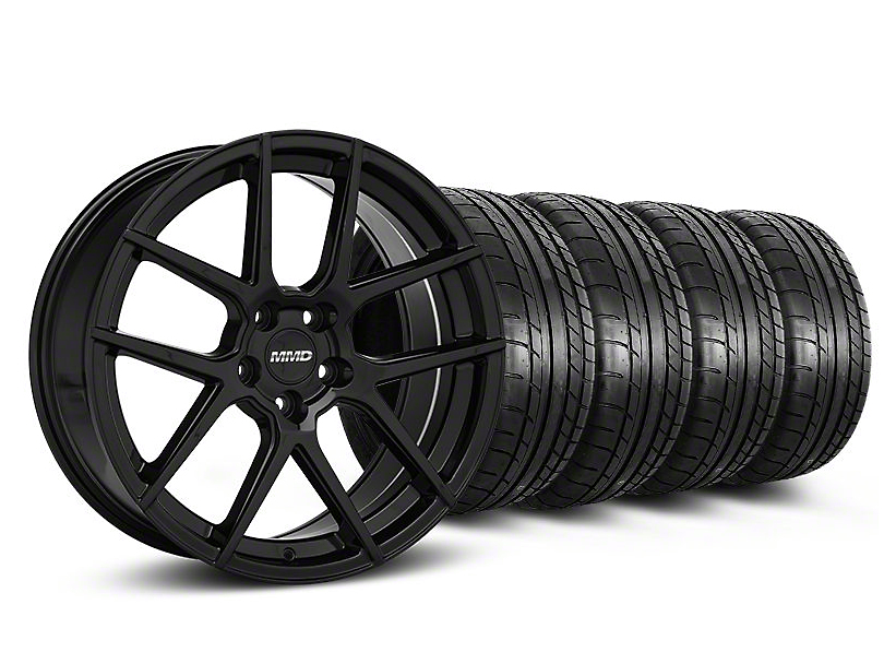 Staggered MMD Zeven Black Wheel & Mickey Thompson Tire Kit - 20x8.5/10 (05-14 All)