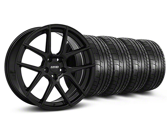 Staggered MMD Zeven Black Wheel and Mickey Thompson Tire Kit; 20x8.5/10 (05-14 All)
