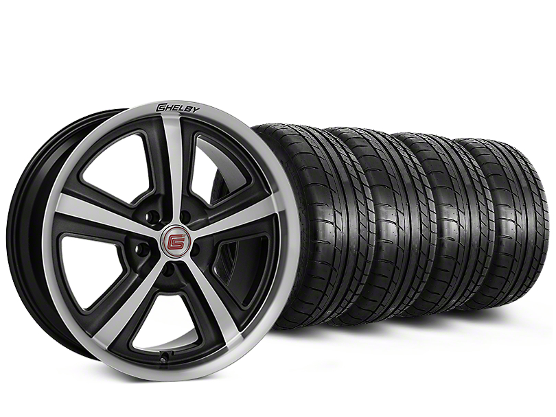Staggered Shelby CS69 Hyper Black Wheel & Mickey Thompson Tire Kit - 20x9/10 (05-14)