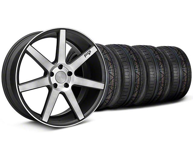 Staggered Niche Verona Black Double Dark Wheel & NITTO INVO Tire Kit - 20x9/10 (05-14 All)