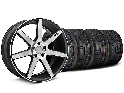 Staggered Niche Verona Black Double Dark Wheel & NITTO INVO Tire Kit - 20x9/10 (05-14 All)