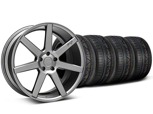 Staggered Niche Verona Anthracite Wheel & NITTO INVO Tire Kit - 20x9/10 (05-14 All)
