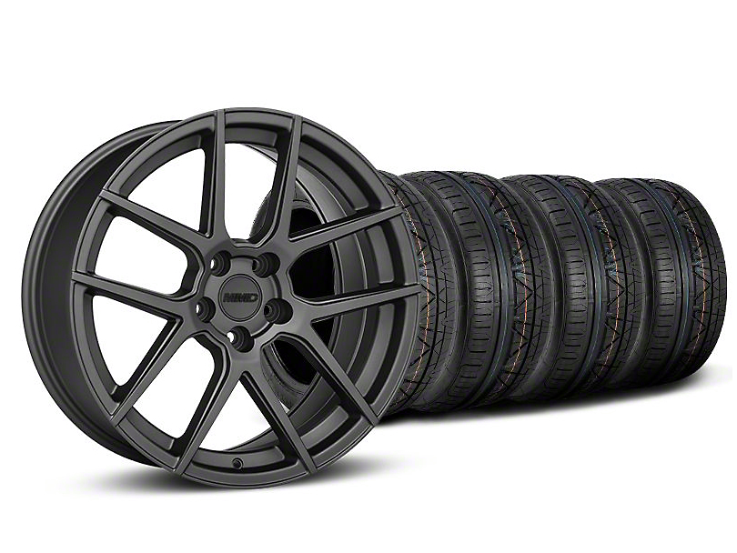 Staggered MMD Zeven Charcoal Wheel & NITTO INVO Tire Kit - 20x8.5/10 (05-14 All)