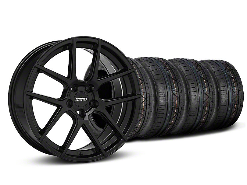 Staggered MMD Zeven Black Wheel & NITTO INVO Tire Kit - 20x8.5/10 (05-14 All)