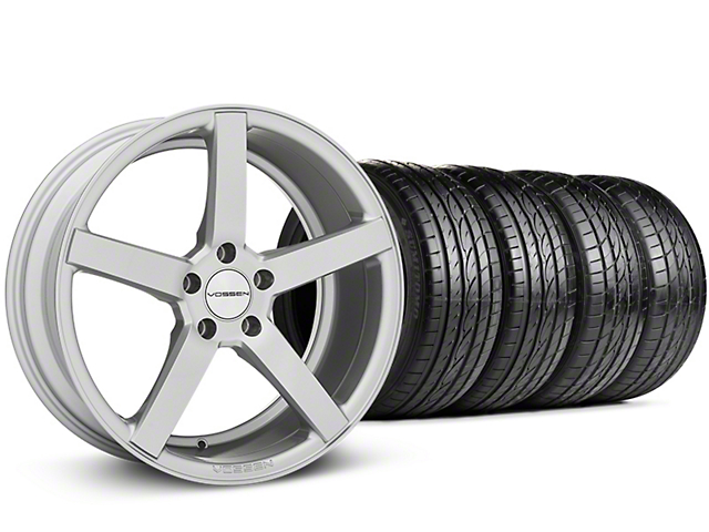 CV3-R Metallic Silver Wheel & Sumitomo Tire Kit - 19x8.5 (05-14 All)
