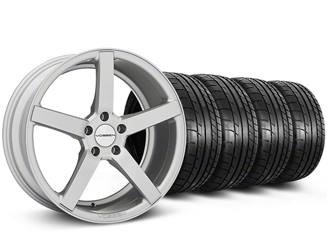 CV3-R Metallic Silver Wheel & NITTO INVO Tire Kit - 19x8.5 (05-14 All)