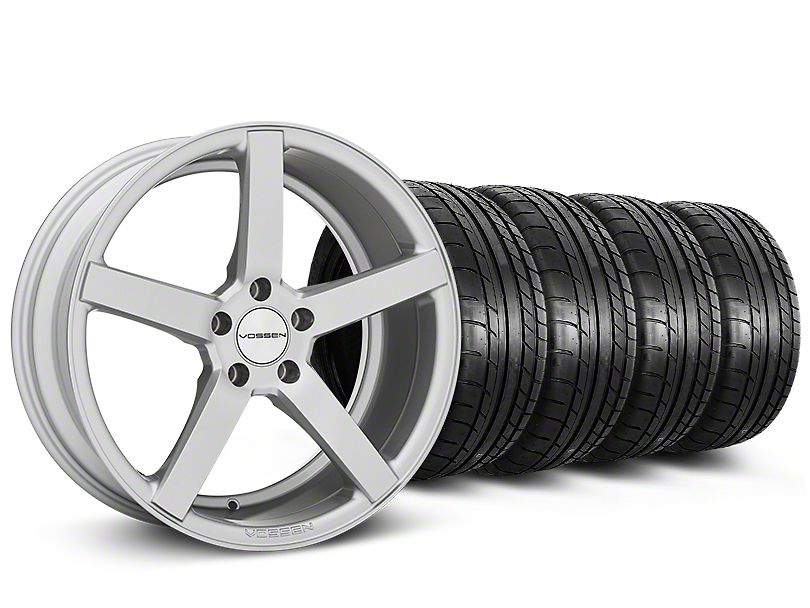 CV3-R Metallic Silver Wheel & Mickey Thompson Tire Kit - 19x8.5 (05-14 All)