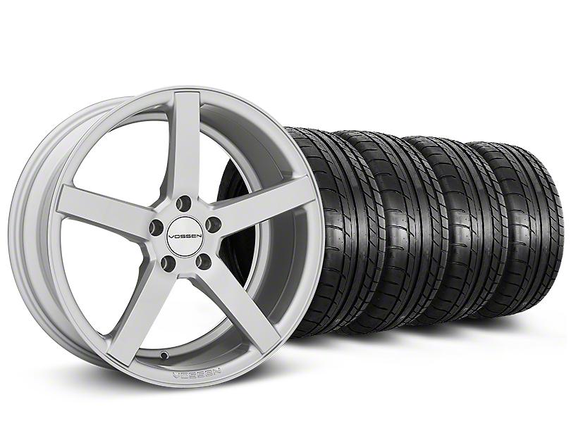 CV3-R Metallic Silver Wheel & Mickey Thompson Tire Kit - 19x8.5 (05-14 All)