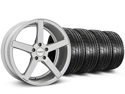 Staggered CV3-R Metallic Silver Wheel & Mickey Thompson Tire Kit - 20x9/10.5 (05-14 All)