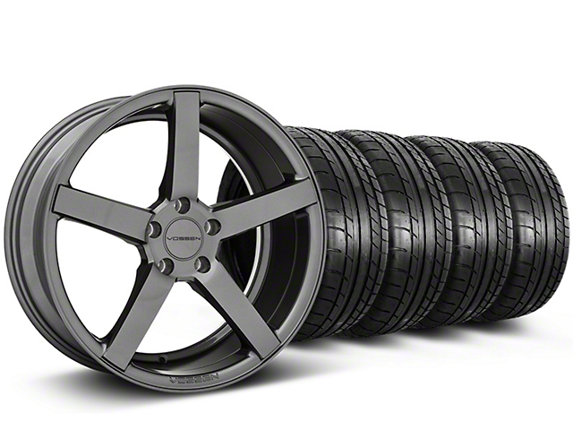 Staggered CV3-R Graphite Wheel and Mickey Thompson Tire Kit; 20x9/10.5 (05-14 All)