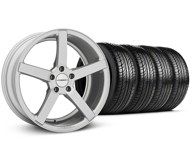 Staggered CV3-R Metallic Silver Wheel & Pirelli Tire Kit - 19x8.5/10 (05-14 All)