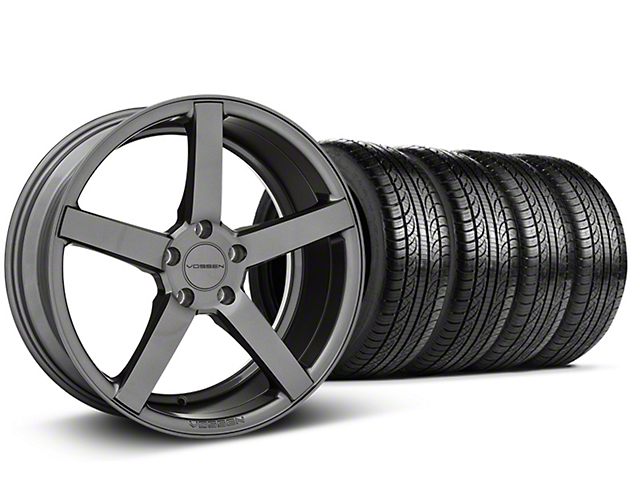 Staggered CV3-R Graphite Wheel & Pirelli Tire Kit - 19x8.5/10 (05-14 All)