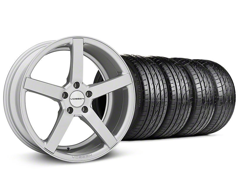 Staggered CV3-R Metallic Silver Wheel & Sumitomo Tire Kit - 19x8.5/10 (05-14 All)