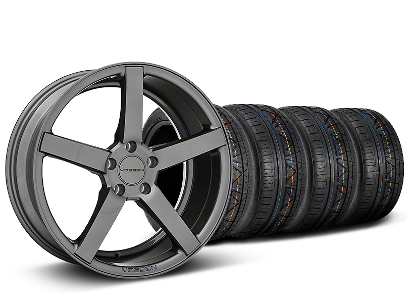 Staggered CV3-R Graphite Wheel & NITTO INVO Tire Kit - 19x8.5/10 (05-14 All)