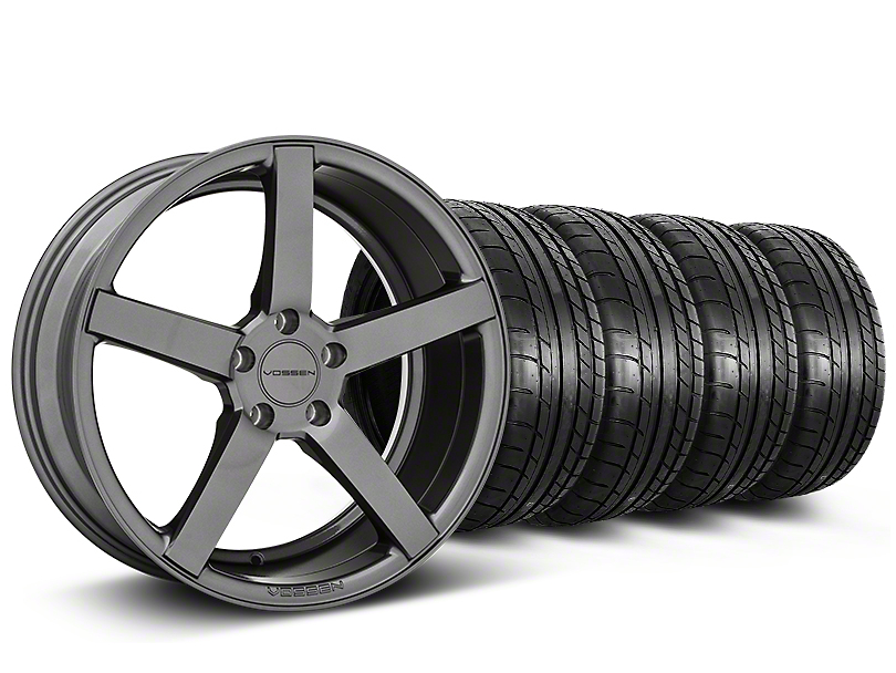 Staggered CV3-R Graphite Wheel & Mickey Thompson Tire Kit - 19x8.5/10 (05-14 All)