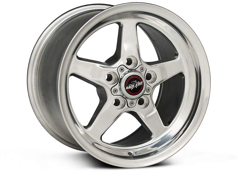 Race Star 92 Drag Star Polished Wheel - Direct Drill - 15x10 - Rear Only (05-09 All)