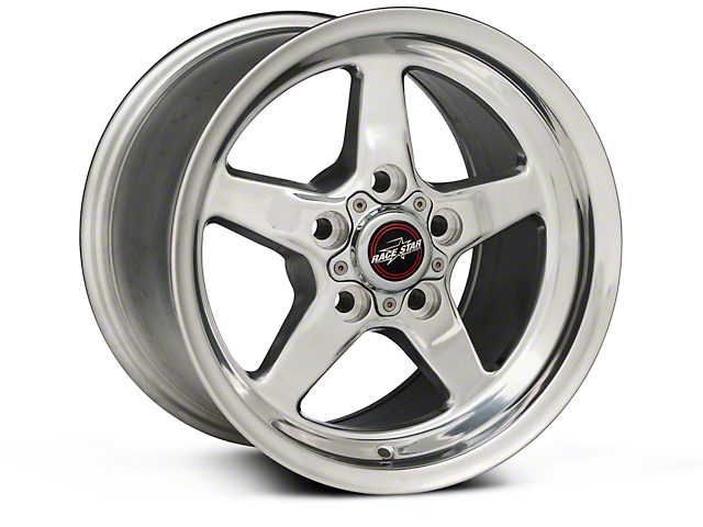 Race Star 92 Drag Star Polished Wheel; Rear Only; Direct Drill; 15x10 (05-09 All)
