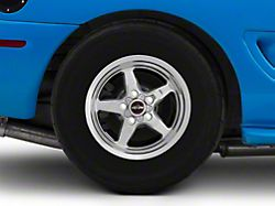 Race Star 92 Drag Star Polished Wheel; Rear Only; Direct Drill; 15x10 (94-98 GT, V6)