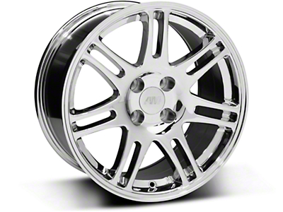 10th Anniversary Cobra Style Chrome Wheel - 17x9 (87-93; Excludes 93 Cobra)