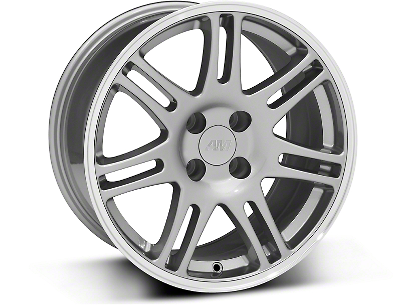 10th Anniversary Cobra Style Anthracite Wheel - 17x9 (87-93 All, Excluding Cobra)