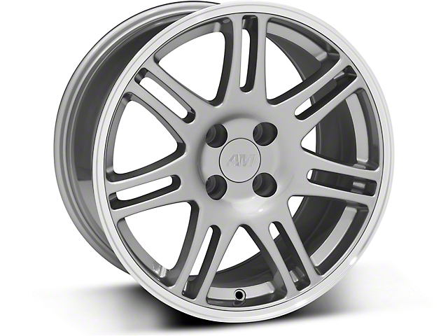 10th Anniversary Cobra Style Anthracite Wheel; 17x9 (87-93 All, Excluding Cobra)