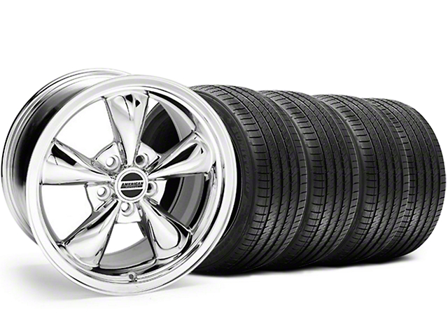 Bullitt Chrome Wheel and Sumitomo Maximum Performance HTR Z5 Tire Kit; 17x8 (94-04 All)