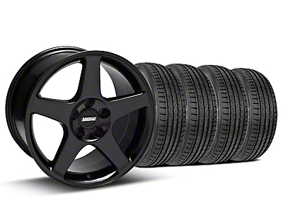 2003 Cobra Style Black Wheel & Sumitomo Tire Kit - 17x9 (99-04 All)