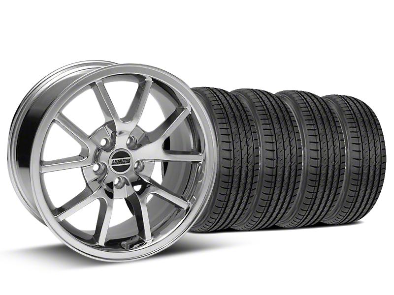 FR500 Style Chrome Wheel & Sumitomo Tire Kit - 17x9 (99-04 All)