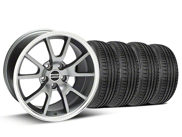 FR500 Style Anthracite Wheel and Sumitomo Maximum Performance HTR Z5 Tire Kit; 17x9 (99-04 All)