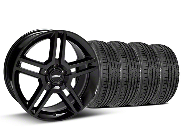 Staggered 2010 GT500 Style Black Wheel & Sumitomo Tire Kit - 19x8.5/10 (05-14)