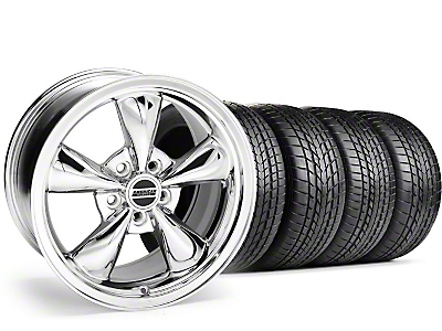 Staggered Bullitt Chrome Wheel & Sumitomo Tire Kit - 17x9/10.5 (99-04 All)