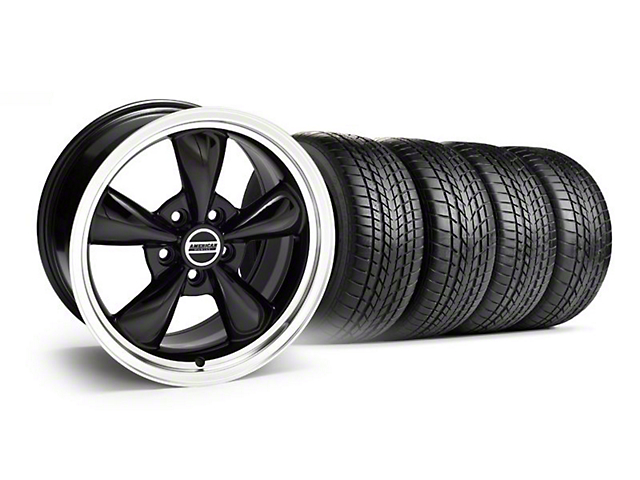 Staggered Bullitt Black Wheel and Sumitomo Tire Kit; 17x9/10.5 (99-04 All)