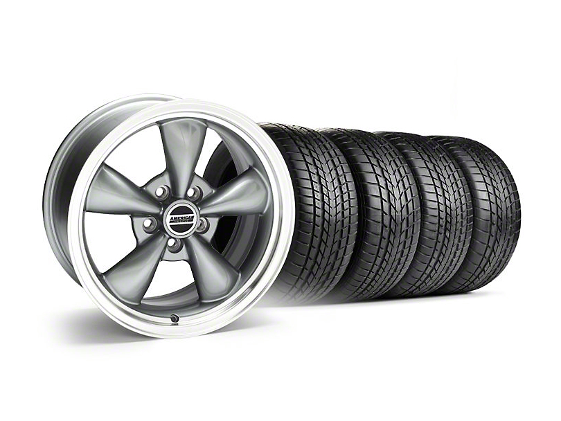 Staggered Bullitt Anthracite Wheel & Sumitomo Tire Kit - 17x9/10.5 (99-04 All)