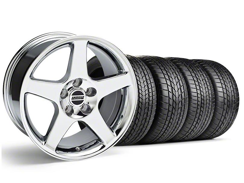 Staggered 2003 Cobra Style Chrome Wheel & Sumitomo Tire Kit - 17x9/10.5 (99-04)