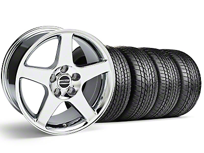 Staggered 2003 Cobra Style Chrome Wheel & Sumitomo Tire Kit - 17x9/10.5 (99-04 All)