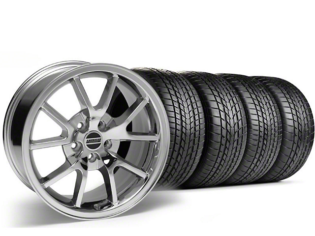 Staggered FR500 Style Chrome Wheel & Sumitomo Tire Kit - 17x9/10.5 (99-04)