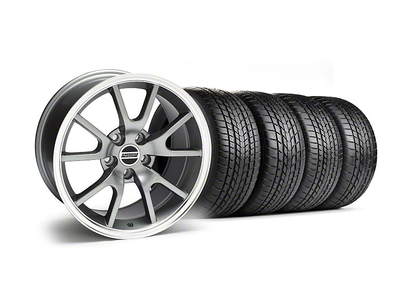 Staggered FR500 Style Anthracite Wheel & Sumitomo Tire Kit - 17x9/10.5 (99-04 All)