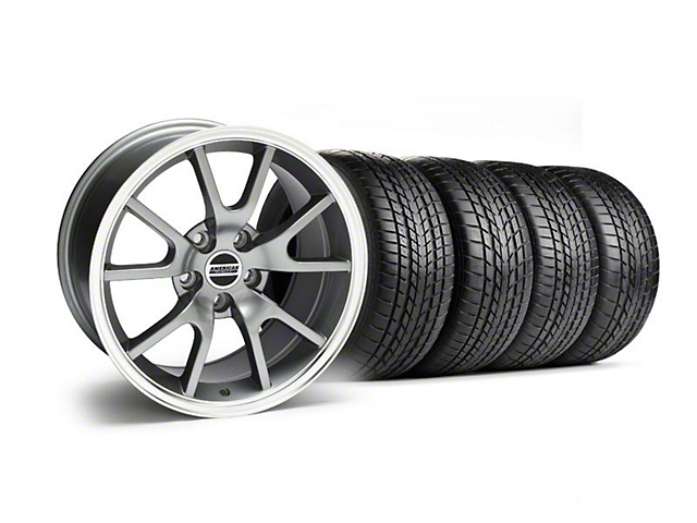 Staggered FR500 Style Anthracite Wheel and Sumitomo Tire Kit; 17x9/10.5 (99-04 All)