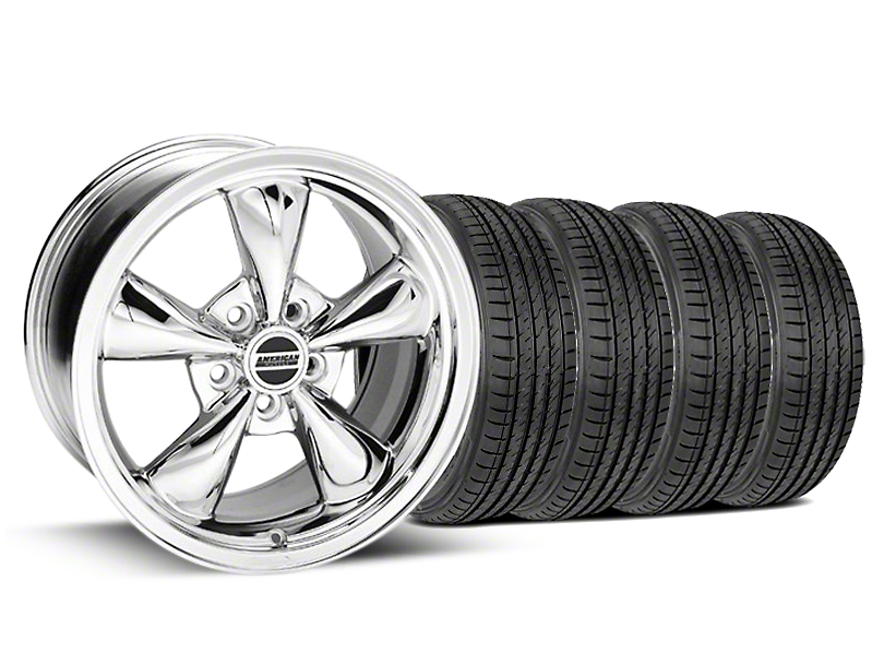 Bullitt Chrome Wheel and Sumitomo Maximum Performance HTR Z5 Tire Kit; 17x9 (99-04 All)