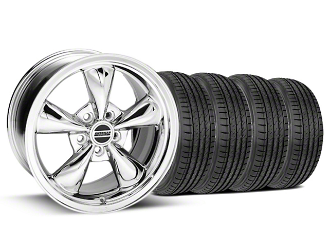 Bullitt Chrome Wheel and Sumitomo Maximum Performance HTR Z5 Tire Kit; 17x9 (99-04 All)