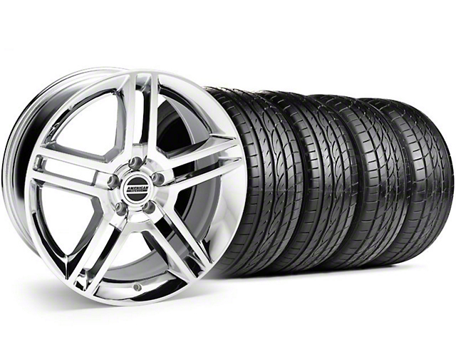 2010 GT500 Style Chrome Wheel & Sumitomo Tire Kit - 19x8.5 (99-04)