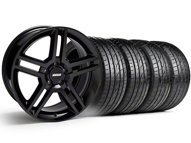 2010 GT500 Style Black Wheel & Sumitomo Tire Kit; 19x8.5 (99-04 All)