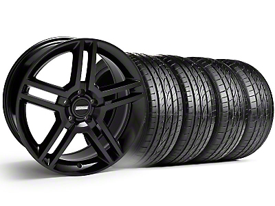 2010 GT500 Style Black Wheel & Sumitomo Tire Kit - 19x8.5 (99-04)