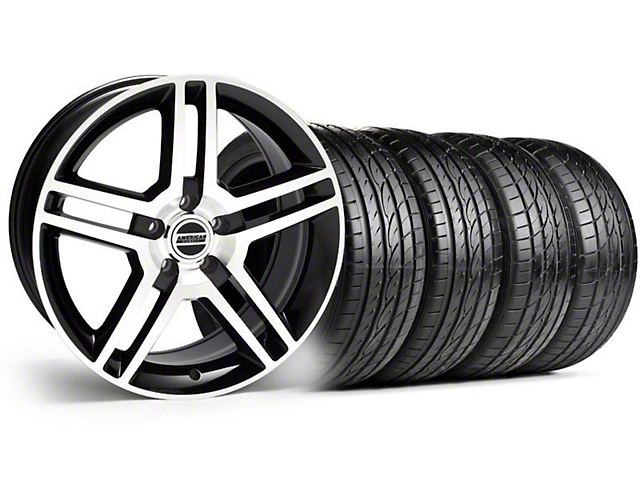 2010 GT500 Style Black Machined Wheel & Sumitomo Tire Kit; 19x8.5 (99-04 All)